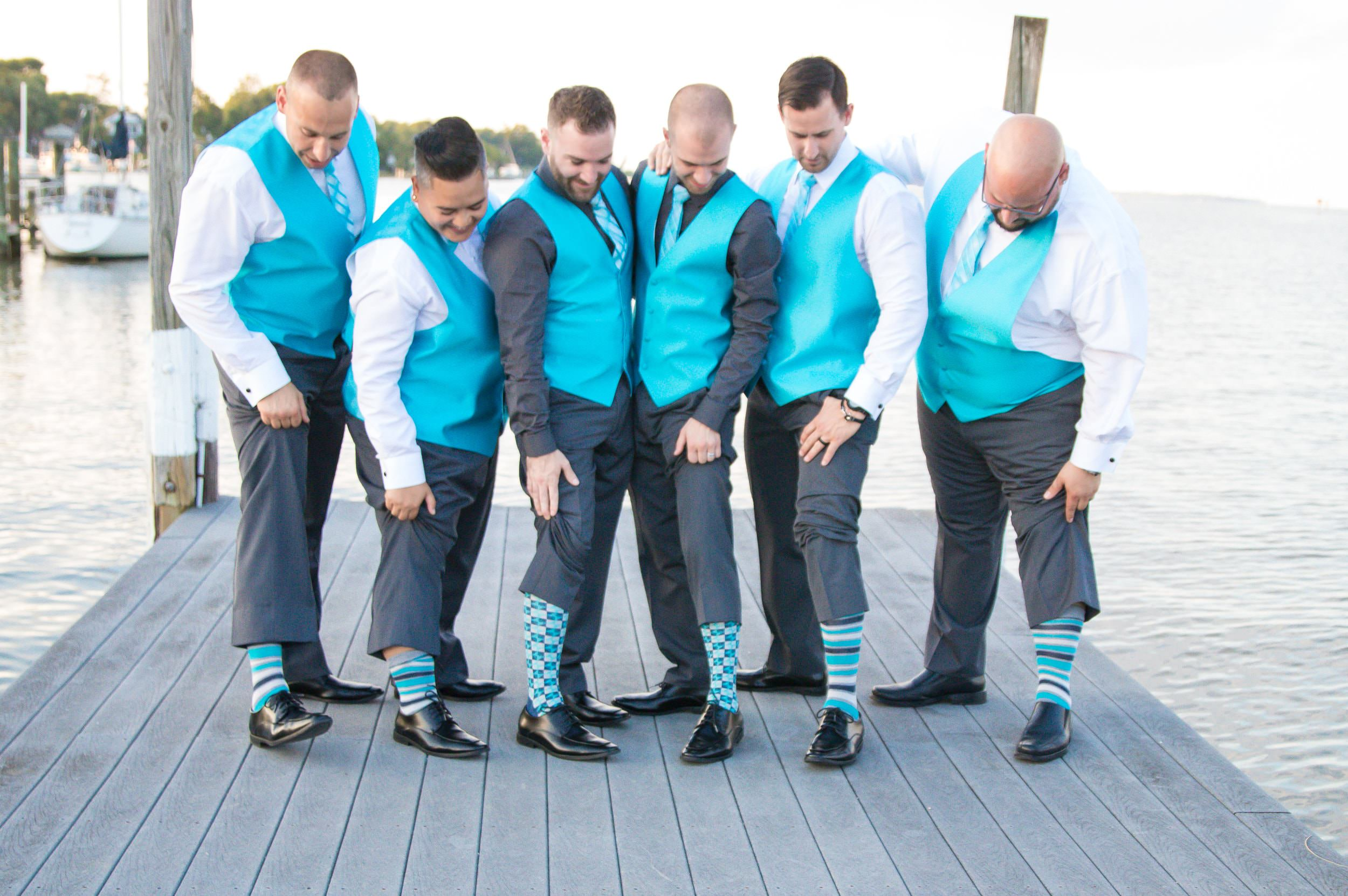 Socks? How about fun matching socks for this crew!